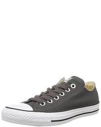 dunkelgraue niedrige Sneakers von Converse