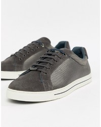 dunkelgraue niedrige Sneakers von Ted Baker