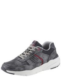dunkelgraue niedrige Sneakers von Tom Tailor