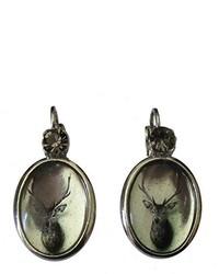 dunkelgraue Ohrringe von Justwin