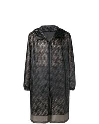 dunkelgraue Regenjacke von Fendi