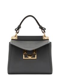 dunkelgraue Satchel-Tasche aus Leder von Givenchy