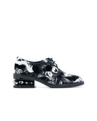 dunkelgraue Segeltuch Oxford Schuhe von Nicholas Kirkwood