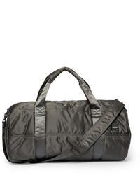 dunkelgraue Segeltuch Reisetasche