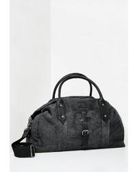 dunkelgraue Segeltuch Reisetasche von Dreimaster