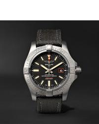 dunkelgraue Segeltuchuhr von Breitling