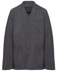 dunkelgraue Shirtjacke von Prada