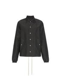 dunkelgraue Shirtjacke von Rick Owens