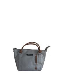 dunkelgraue Shopper Tasche aus Leder von 7clouds