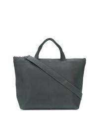 dunkelgraue Shopper Tasche aus Leder von Isaac Reina