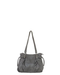 dunkelgraue Shopper Tasche aus Leder von J. JAYZ