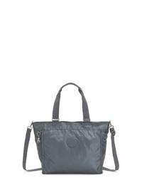 dunkelgraue Shopper Tasche aus Leder von Kipling