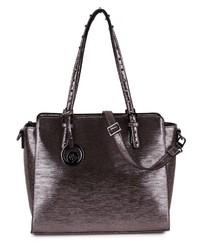 dunkelgraue Shopper Tasche aus Leder von MERCH MASHIAH