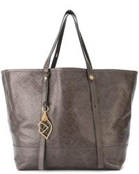 dunkelgraue Shopper Tasche aus Leder von See by Chloe