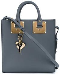 dunkelgraue Shopper Tasche aus Leder von Sophie Hulme