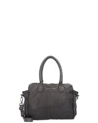 dunkelgraue Shopper Tasche aus Leder von Taschendieb Wien