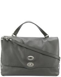 dunkelgraue Shopper Tasche aus Leder von Zanellato