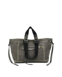 dunkelgraue Shopper Tasche aus Segeltuch von Isabel Marant