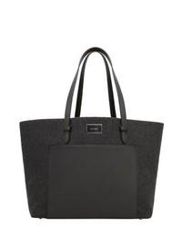 dunkelgraue Shopper Tasche von Mango