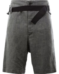 dunkelgraue Shorts von Ann Demeulemeester