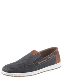 dunkelgraue Slip-On Sneakers von Rieker