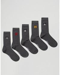 dunkelgraue Socken von Asos