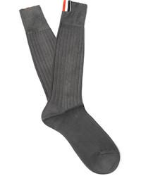Dunkelgraue Socke von Thom Browne