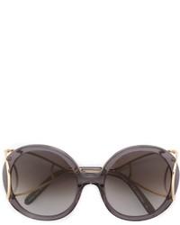 dunkelgraue Sonnenbrille von Chloé