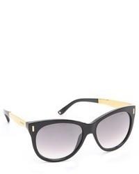 dunkelgraue Sonnenbrille von Jimmy Choo