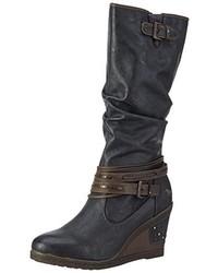 dunkelgraue Stiefel von Mustang