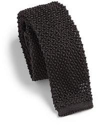 dunkelgraue Strick Krawatte