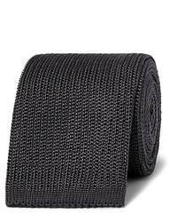 dunkelgraue Strick Krawatte von Boglioli