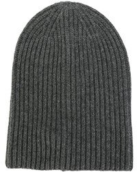 dunkelgraue Strick Mütze von Dondup