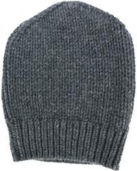 dunkelgraue Strick Mütze von Eleventy