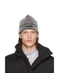 dunkelgraue Strick Mütze von Givenchy