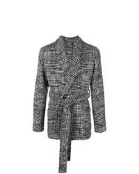 dunkelgraue Strickjacke mit einer offenen Front von Dolce & Gabbana
