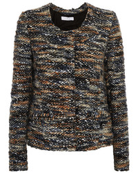 dunkelgraue Tweed-Jacke