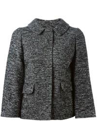 dunkelgraue Tweed-Jacke von Dolce & Gabbana