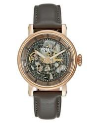 dunkelgraue Uhr von Fossil