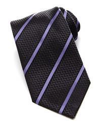 dunkelgraue vertikal gestreifte Krawatte