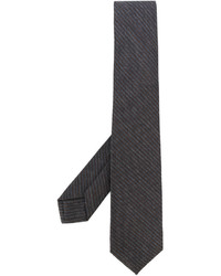 dunkelgraue vertikal gestreifte Krawatte von Barba