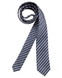 dunkelgraue vertikal gestreifte Krawatte von CLASS INTERNATIONAL