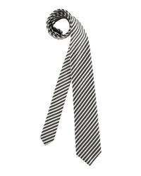 dunkelgraue vertikal gestreifte Krawatte von Olymp
