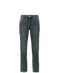 dunkelgraue verzierte Jeans von Isabel Marant