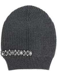 dunkelgraue verzierte Mütze von No.21
