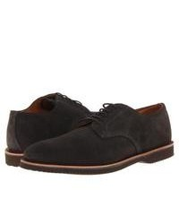 dunkelgraue Wildleder Derby Schuhe