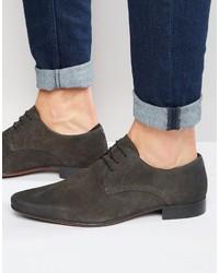dunkelgraue Wildleder Derby Schuhe von Asos
