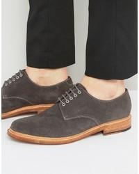 dunkelgraue Wildleder Derby Schuhe von Grenson