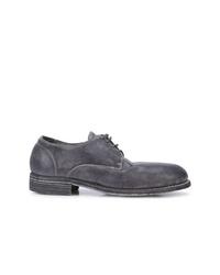 dunkelgraue Wildleder Derby Schuhe von Guidi