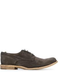 dunkelgraue Wildleder Derby Schuhe von Officine Creative
